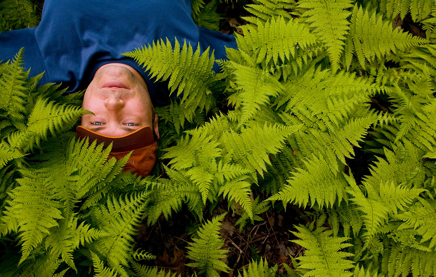 Man in Ferns Portrait